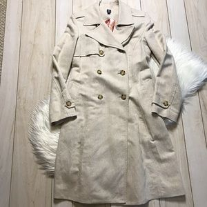 Hilfiger Tan Tweed Heavy Weight Trench Coat
